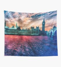 Colourful London  Wall Tapestry