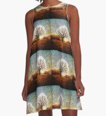 Winter Tree A-Line Dress