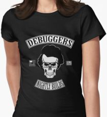 DEBUGGERS Color Parody Womens Fitted T-Shirt