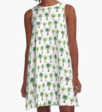 Summery Palm Tree Pattern A-Line Dress