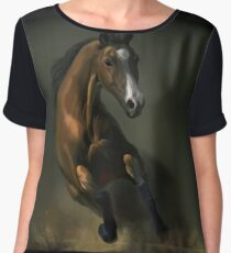 Horse Women's Chiffon Top