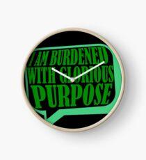 Burdened with Glorious Purpose Clock