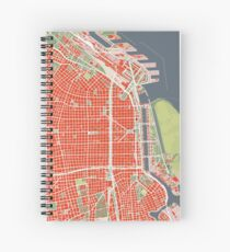Buenos Aires city map classic Spiral Notebook