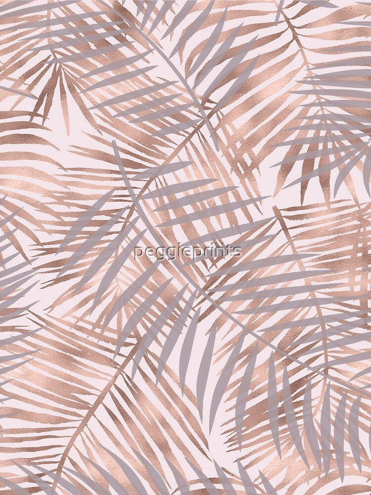Shady rose gold palms by peggieprints