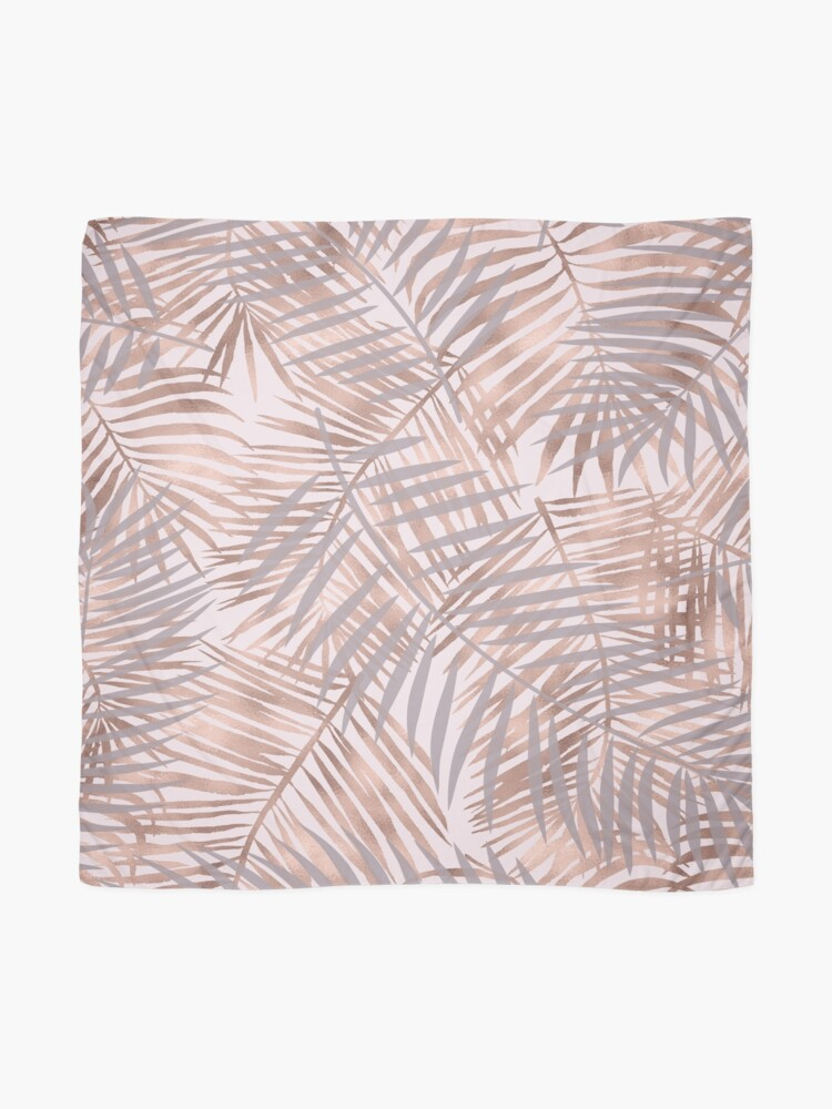 Alternate view of Shady rose gold palms Scarf