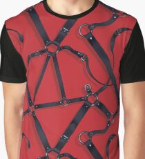 Kinky Spiderweb - Black/Red Graphic T-Shirt
