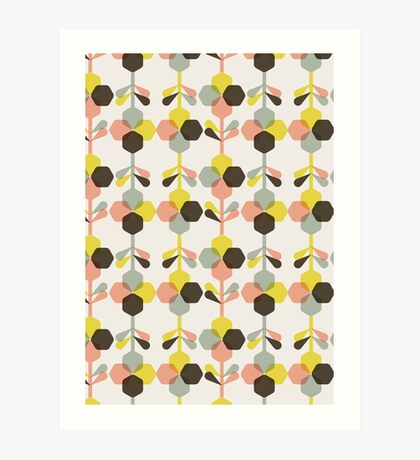 Blooms in blush Art Print