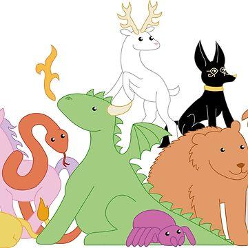 Erdrejan Faction Animals by littlegemma