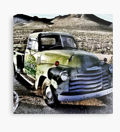 old green truck, route 66, cool springs, arizona Metal Print