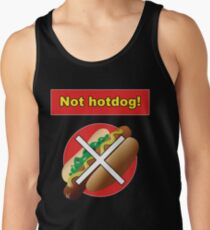 Not Hot Dog Silicon Valley Shirt Tank Top
