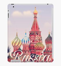 Moscow vintage travel poster  iPad Case/Skin