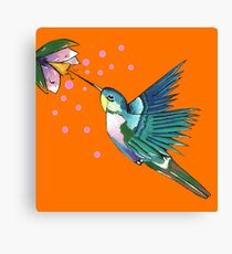 Hummingbird Orange Canvas Print
