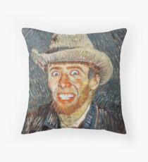 Vincent Van Cage Throw Pillow