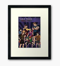 Ping Pong Posters: Personalities Framed Print