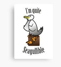 Seagullible Canvas Print