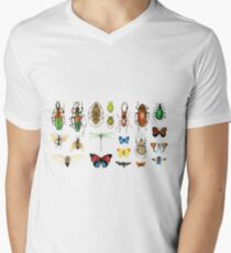 The Usual Suspects - Insects on grey - watercolour bugs pattern by Cecca Designs T-Shirt