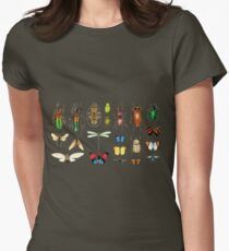 The Usual Suspects - Insects on grey Womens Fitted T-Shirt
