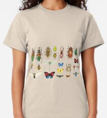 The Usual Suspects - Insects on grey - watercolour bugs pattern by Cecca Designs Classic T-Shirt