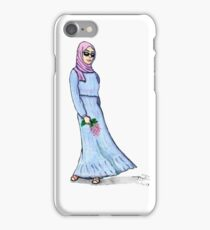 woman with lilac iPhone Case/Skin