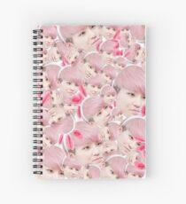 Woozi Face Collage   Seventeen Spiral Notebook