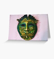 """greenman"" Greeting Card"