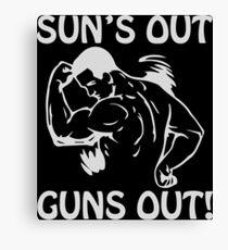 Sun's Out, Guns Out Canvas Print