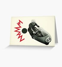 Motorcycle Madness Greeting Card
