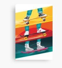Back to the Future - Skateboard Art Canvas Print