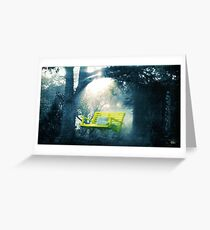 The Yellow Swing Greeting Card