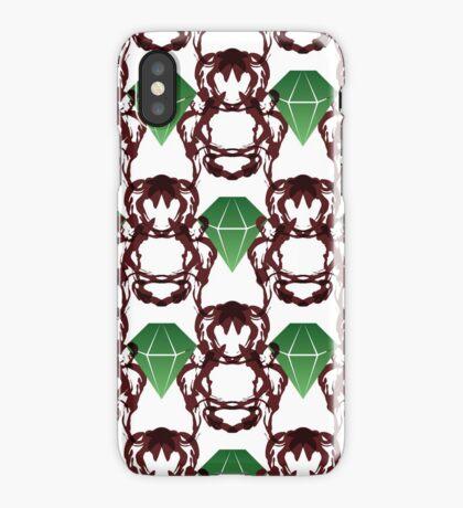 Emeralds & Demons [WHITE] iPhone Case/Skin