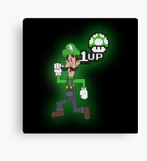 Luigi 1UP Canvas Print