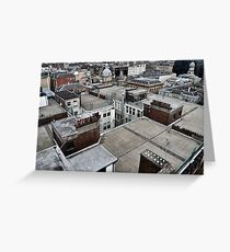 Rooftops of Glasgow Greeting Card