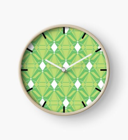 Abstract Emeralds [GREEN] Clock