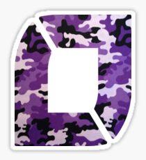 NoFlo Purple Camo Chest Logo Sticker