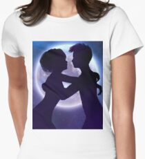 Couple silhouette in the night 2 T-Shirt
