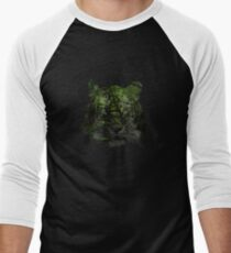 Tiger Spirit forrest Men's Baseball ¾ T-Shirt