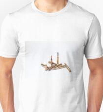Bullets on White Unisex T-Shirt