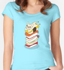 It is Japanese sushi night for the cute French Bulldog Women's Fitted Scoop T-Shirt