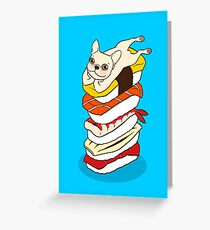 It is Japanese sushi night for the cute French Bulldog Greeting Card
