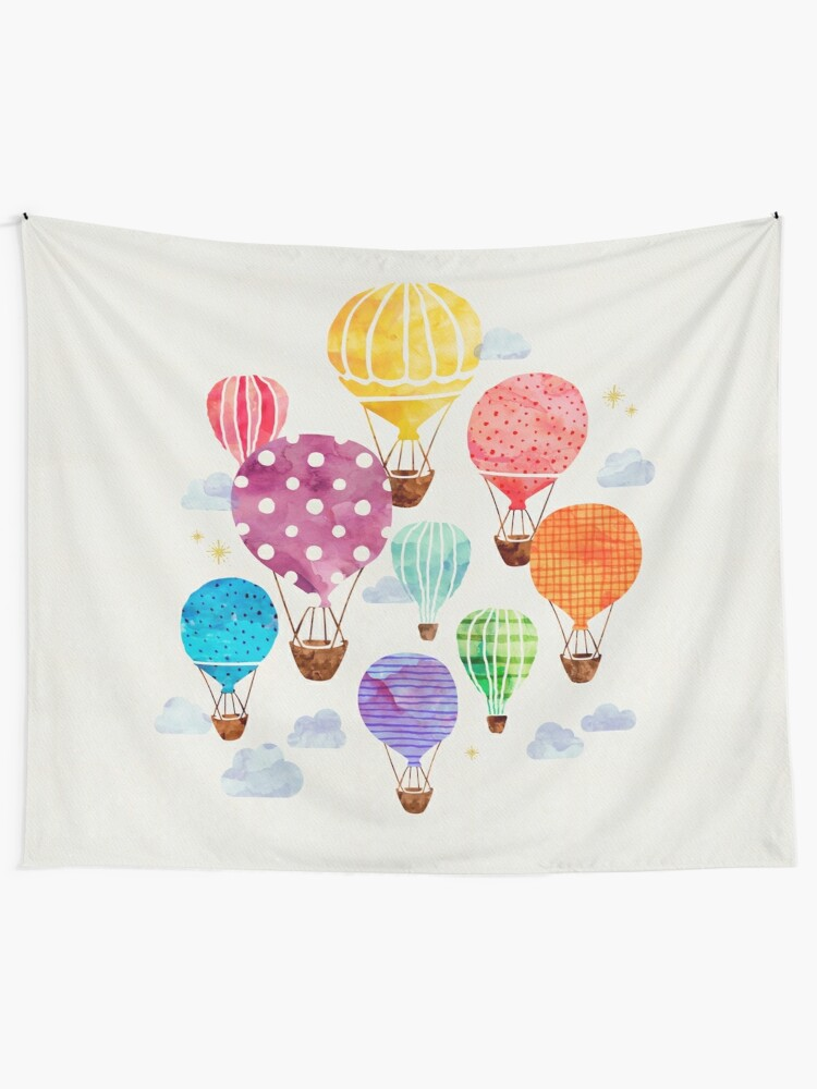 Alternate view of Hot Air Balloon Wall Tapestry