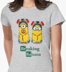 Breaking Banana Womens Fitted T-Shirt