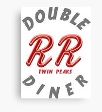 Double R Diner Twin Peaks (logo) Canvas Print
