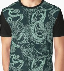 Seamless pattern with octopus and jellyfish. Graphic T-Shirt