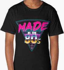 Made in The 80s - Born in Eighties retro Neon Grid Long T-Shirt