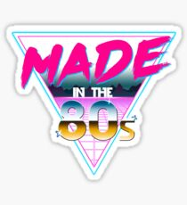 Made in The 80s - Born in Eighties retro Neon Grid Sticker