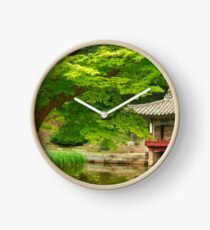 Changdeokgung Secret Garden in Spring Clock