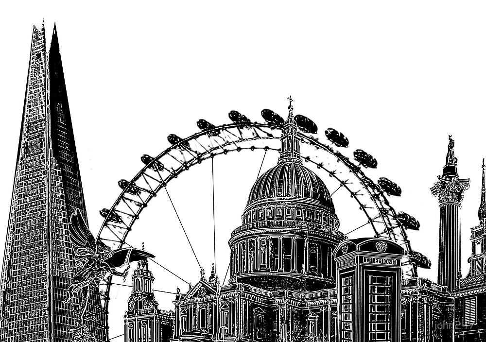 London skyline by john247