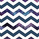 Galaxy and Navy Chevron by ohsotorix3