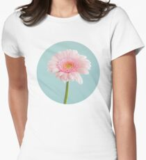 Girly Pink Daisy Flower Womens Fitted T-Shirt