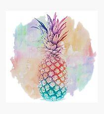 Rainbow Pineapple Photographic Print